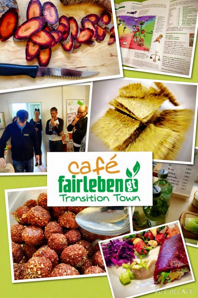 leckere Rohkost-Speisen im Café fairleben